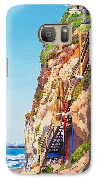 Seagull Galaxy S7 Case - Encinitas Beach Cliffs by Mary Helmreich
