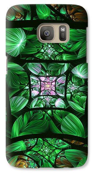 Galaxy Case featuring the digital art Encompassed by Lea Wiggins
