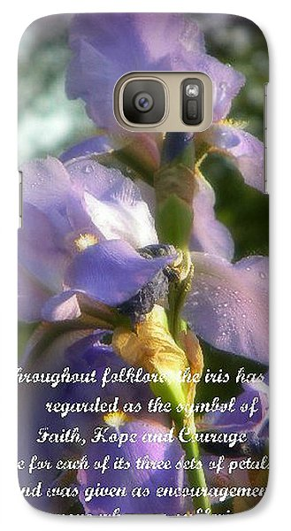 Galaxy Case featuring the photograph Encouraging Iris by Michelle Frizzell-Thompson