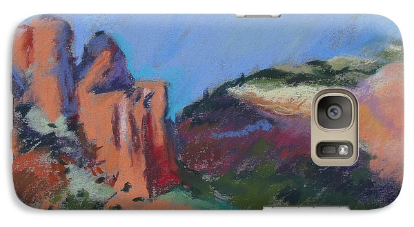 Galaxy Case featuring the painting Encroaching Shadows by Linda Novick