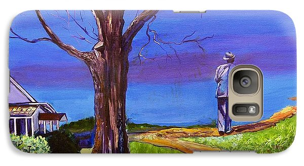 Galaxy Case featuring the painting End Of Day Highway 98 by Ecinja Art Works