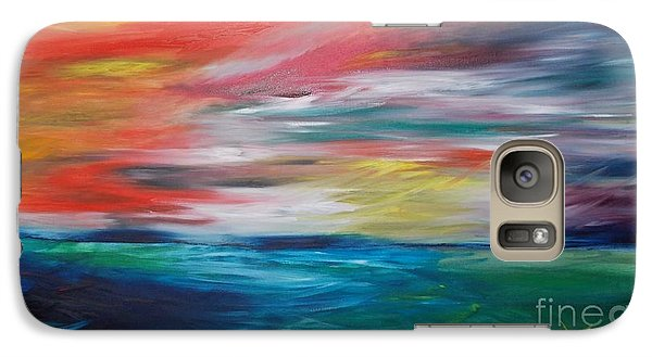 Galaxy Case featuring the painting End Of Day by PainterArtist FIN