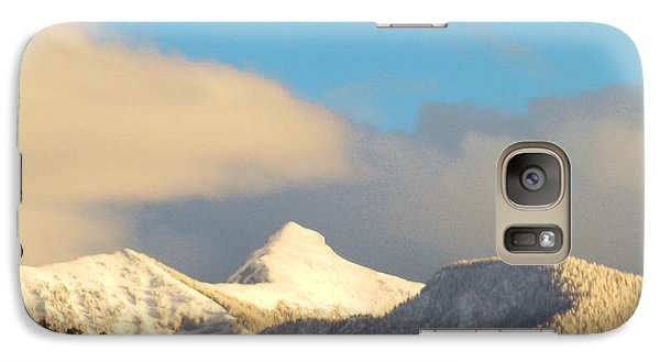 Galaxy Case featuring the photograph End Of February Snow On Sheep's Head Peak by Anastasia Savage Ealy