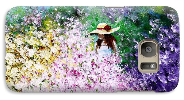 Galaxy Case featuring the painting End Of May by Kume Bryant