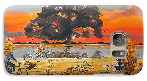 Galaxy Case featuring the painting End Of Season Habits Listen With Music Of The Description Box by Lazaro Hurtado