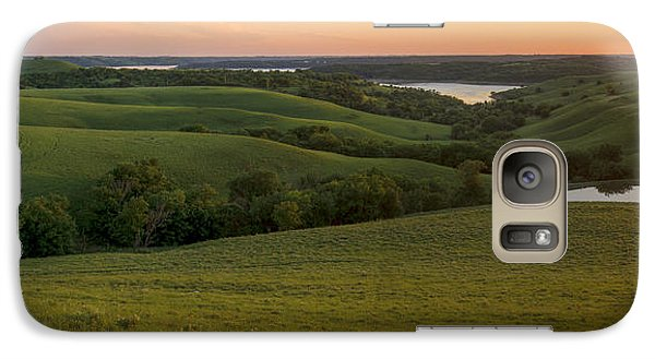 Galaxy Case featuring the photograph End Of The Day In The Flint Hills by Scott Bean