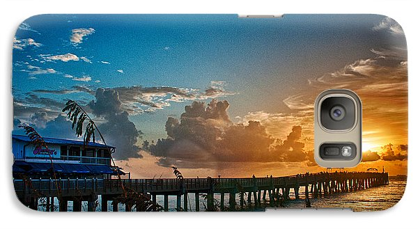 Galaxy Case featuring the photograph End Of The Pier by Don Durfee