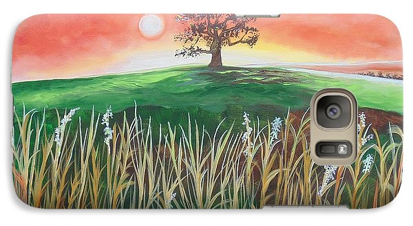 Galaxy Case featuring the painting Up In The Sycamore Tree I Saw  Him by Nereida Rodriguez