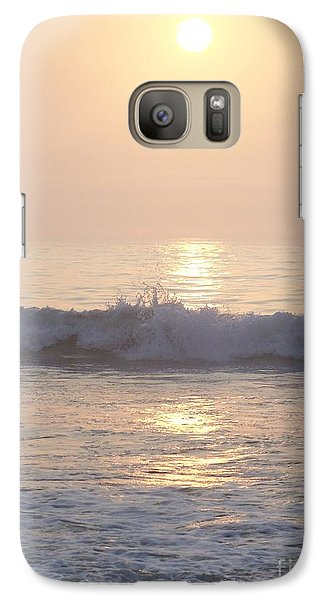 Galaxy Case featuring the photograph Hampton Beach Wave Ends With A Splash by Eunice Miller