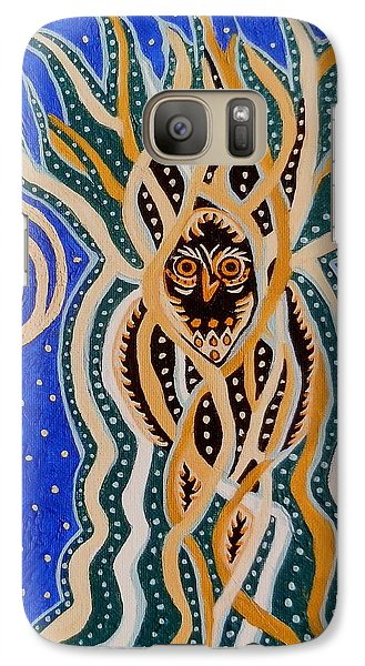 Galaxy Case featuring the painting Energy Of The Night by Carolyn Cable
