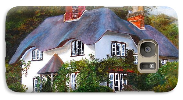 Galaxy Case featuring the painting English Cottage by LaVonne Hand
