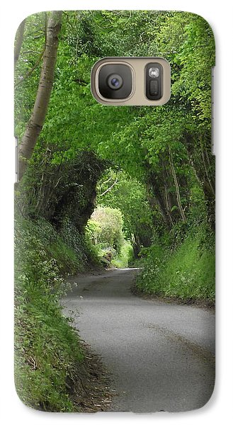 Galaxy Case featuring the photograph English Country Lane by Jayne Wilson
