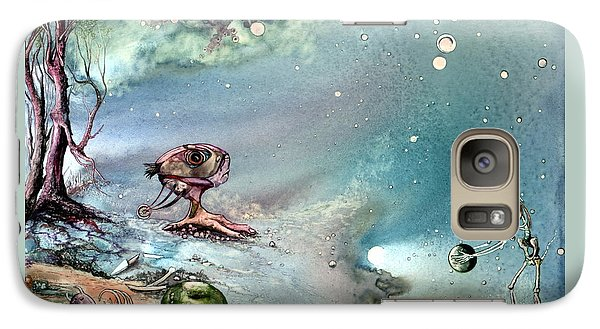 Galaxy Case featuring the painting Enigma by Mikhail Savchenko