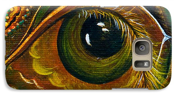 Galaxy Case featuring the painting Enigma Spirit Eye by Deborha Kerr