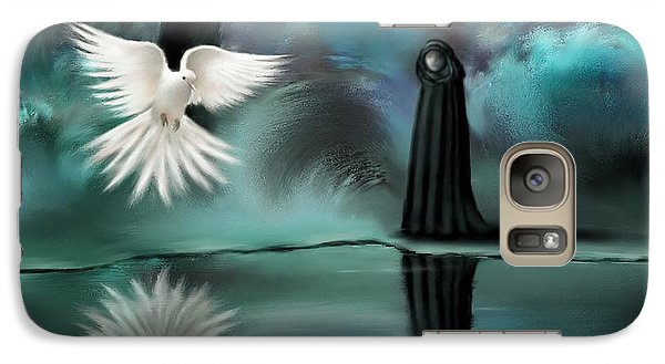 Galaxy Case featuring the painting Enigma by S G