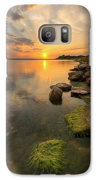 Galaxy Case featuring the photograph Enjoying Sunset by Scott Bean