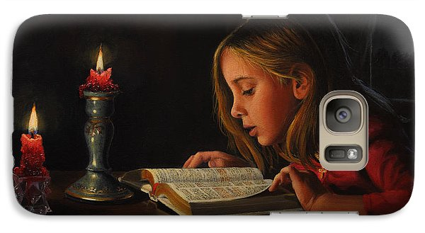 Galaxy Case featuring the painting Enlightenment by Glenn Beasley