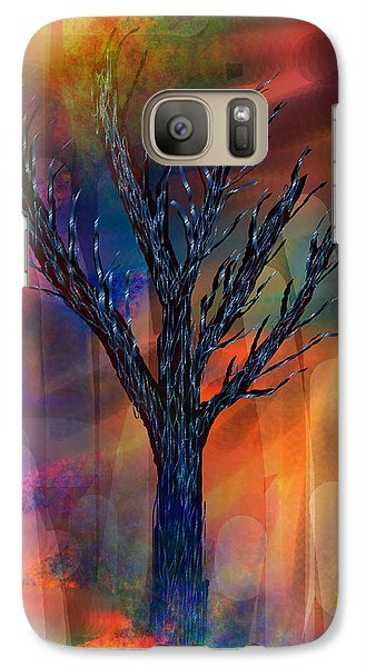 Galaxy Case featuring the painting Enlightenment by Yul Olaivar
