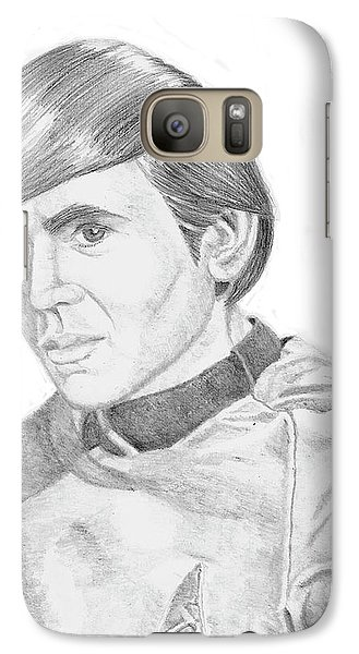 Galaxy Case featuring the drawing Ensign Pavel Chekov by Thomas J Herring