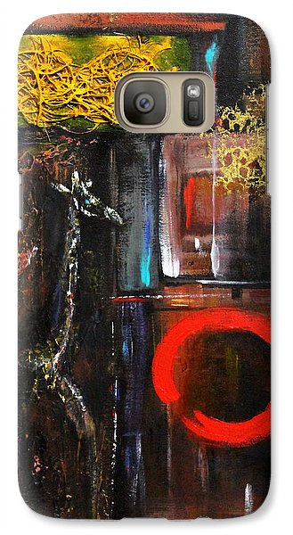 Galaxy Case featuring the painting Enso Abstract by Patricia Lintner