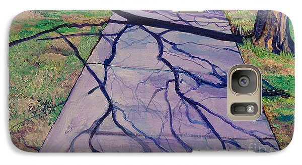 Galaxy Case featuring the painting Entanglement On Highway 98' by Ecinja Art Works