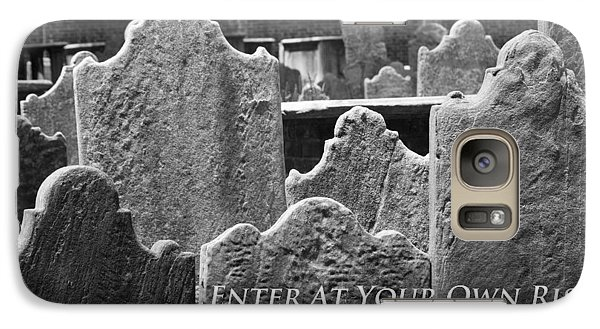 Galaxy Case featuring the photograph Enter At Your Own Risk by Patrice Zinck