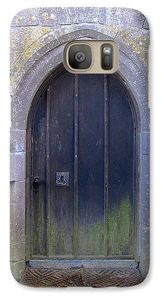 Galaxy Case featuring the photograph Enter At Your Own Risk by Suzanne Oesterling