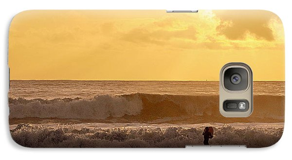 Galaxy Case featuring the photograph Enter The Surfer by AJ  Schibig