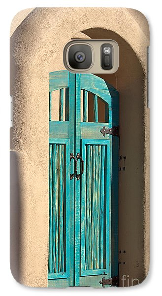 Galaxy Case featuring the photograph Enter Turquoise by Barbara Chichester
