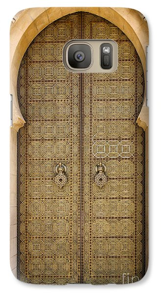 Galaxy Case featuring the photograph Entrance Door To The Mausoleum Mohammed V Rabat Morocco by Ralph A  Ledergerber-Photography