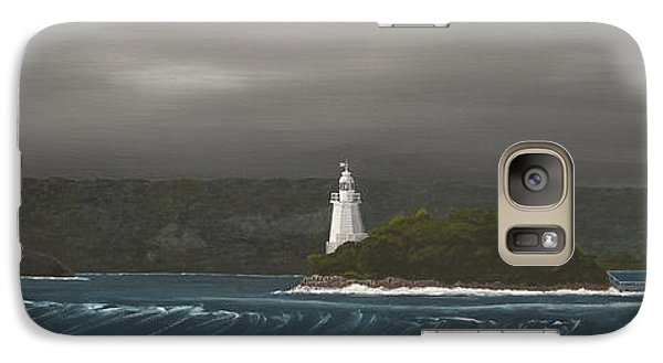 Galaxy Case featuring the painting Entrance To Macquarie Harbour - Tasmania by Tim Mullaney
