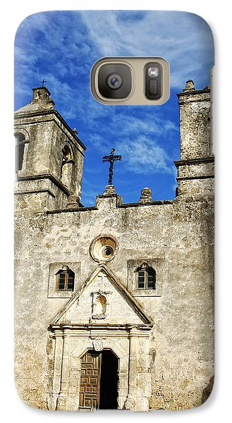 Galaxy Case featuring the photograph Entrance To Mission Concepcion by Lincoln Rogers