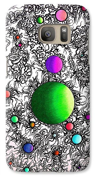 Galaxy Case featuring the drawing Entropy Color Variation 2 by Devin  Cogger
