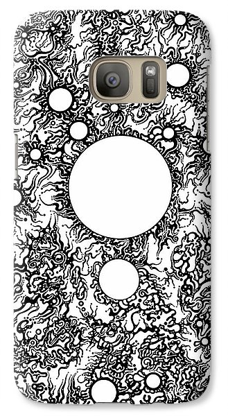 Galaxy Case featuring the drawing Entropy Colorless by Devin  Cogger