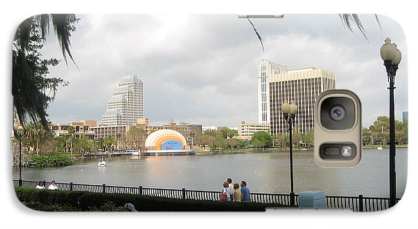 Galaxy Case featuring the photograph Eola Park In Orlando by Judith Morris