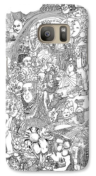 Galaxy Case featuring the drawing Epic 2011 by Steve  Hester