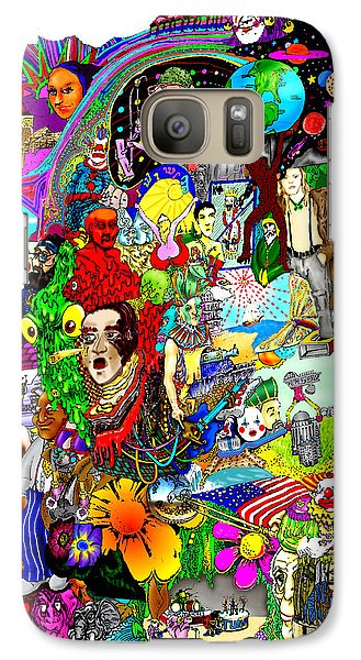 Galaxy Case featuring the drawing Epic 25  by Steve  Hester