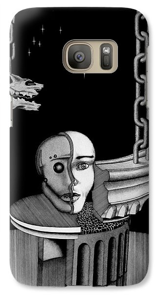Galaxy Case featuring the drawing Epochal Connection by Geni Gorani