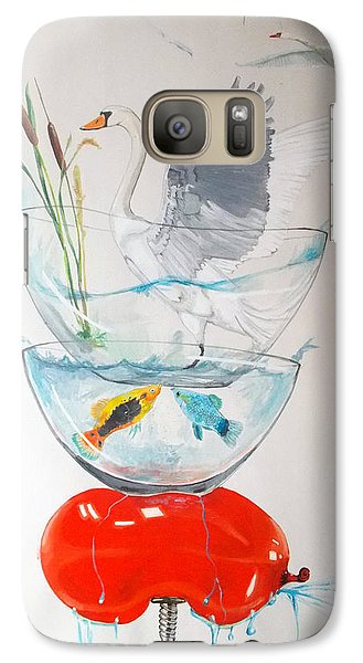 Galaxy Case featuring the painting Equilibrium by Lazaro Hurtado