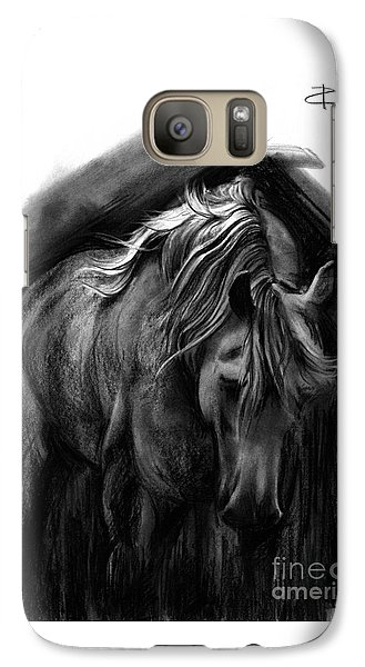 Galaxy Case featuring the drawing Equine 1 by Paul Davenport
