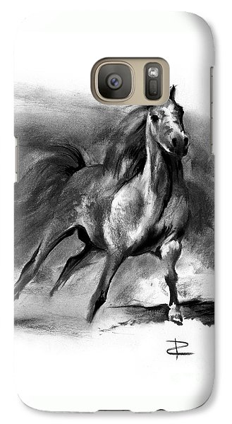 Galaxy Case featuring the drawing Equine II by Paul Davenport