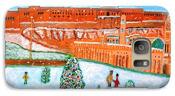 Galaxy Case featuring the painting Erbil Citadel Christmas  by Magdalena Frohnsdorff