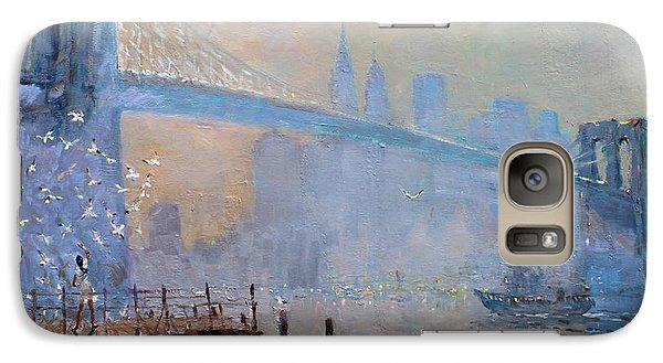 Erbora And The Seagulls Galaxy Case by Ylli Haruni