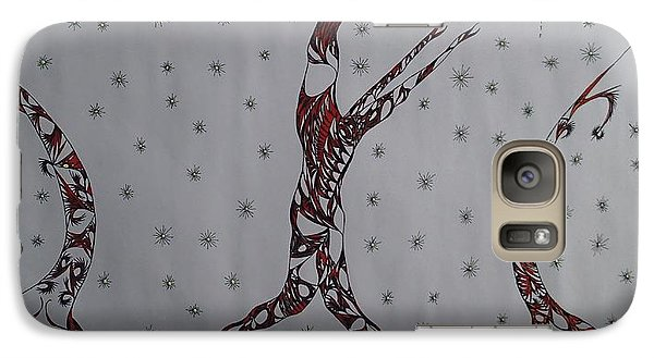 Galaxy Case featuring the drawing Erinyes by Robert Nickologianis