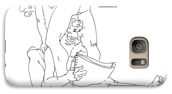 Galaxy Case featuring the drawing Erotic Art Drawing 9sp by Gordon Punt