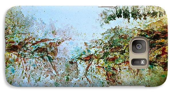 Galaxy Case featuring the painting Escarpment by Carolyn Rosenberger