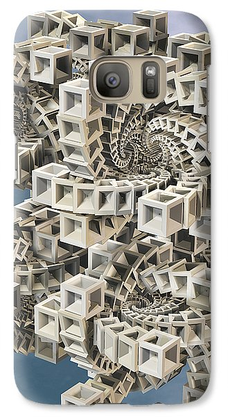 Galaxy Case featuring the digital art Escher's Construct by Manny Lorenzo