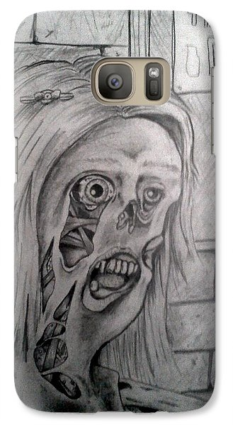 Galaxy Case featuring the painting Esmeralda  by Richie Montgomery