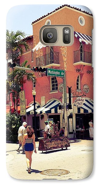 Galaxy Case featuring the photograph Espanola Way by Judy Kay