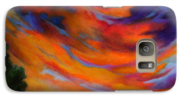 Galaxy Case featuring the painting Espiritu Del Cielo by Alison Caltrider